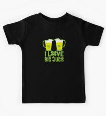 I love BIG JUGS green shamrocks St Patricks day beer jugs Kids Clothes
