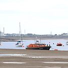 Lifeboat anchored in Wyre Estuary by OurKev