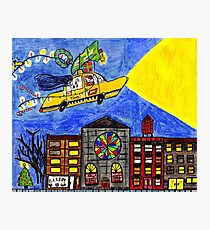 Flying Taxi Photographic Print