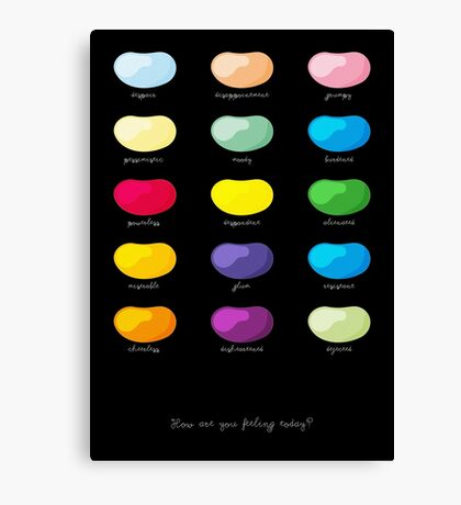Every emotion beans Canvas Print