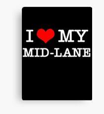 I Love My MID-LANE  [Black] Canvas Print