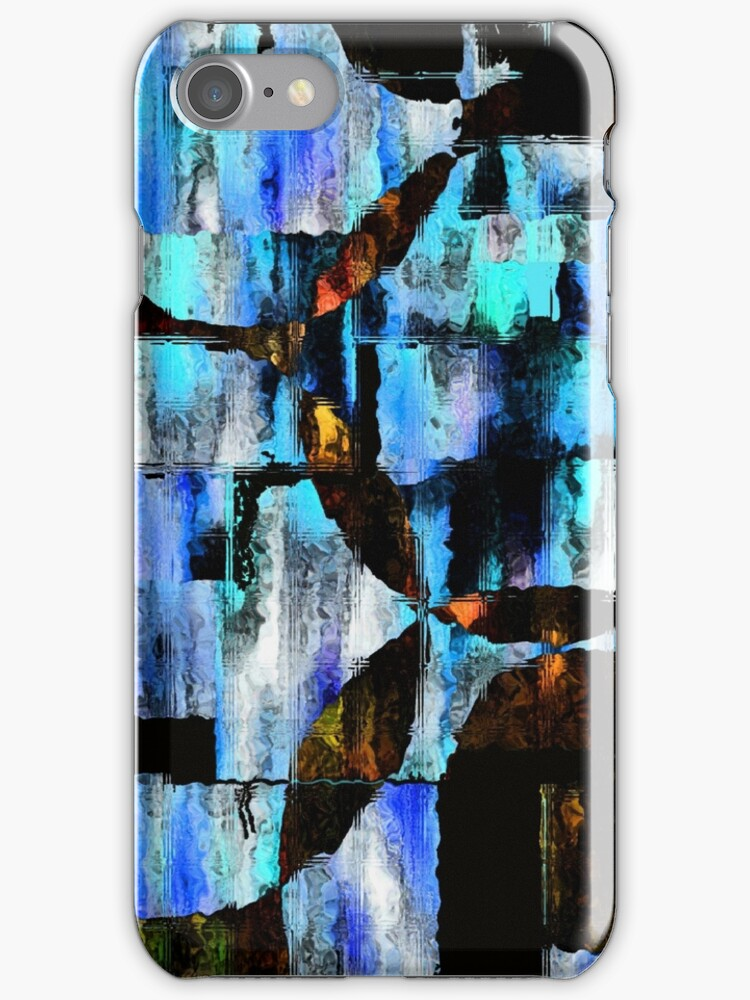 iPhone Case of painting..View from a glass house.... by linmarie