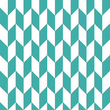 Teal Thick Offset Chevrons by ImageNugget