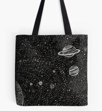 Black Space Tote Bag