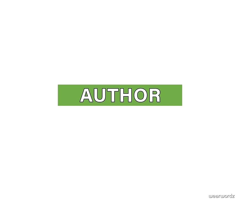 Author by wearwordz