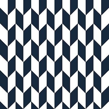 Navy Thick Offset Chevrons by ImageNugget