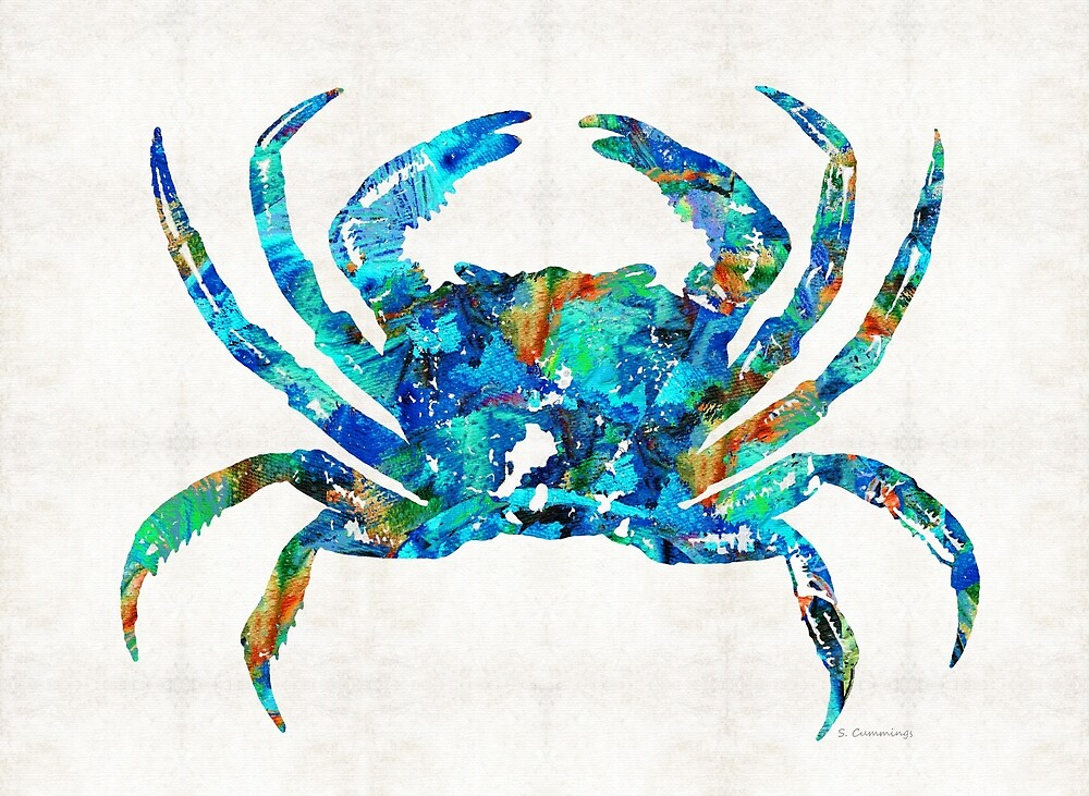 Quot Blue Crab Art By Sharon Cummings Quot By Sharon Cummings