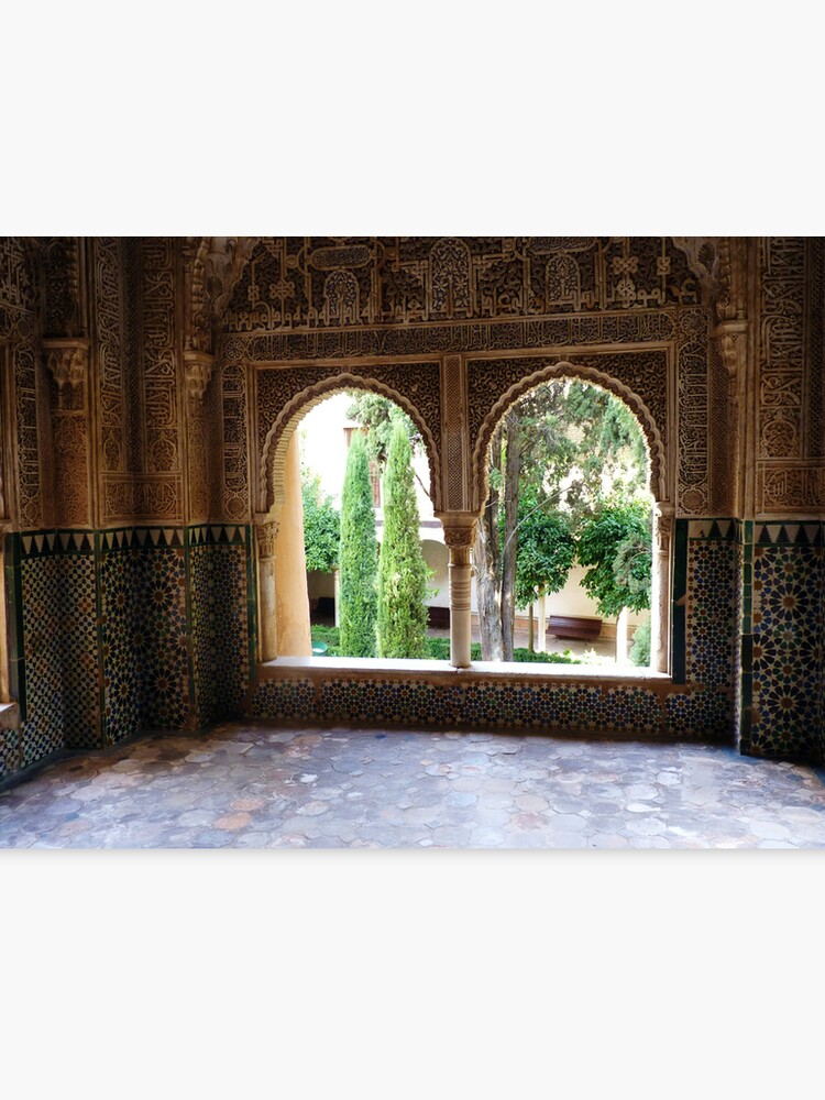 Arched Windows, Alhambra Palace, Granada, Spain | Canvas Print