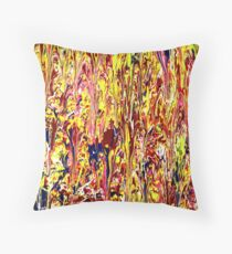 Abstract Jackson Pollock Painting Titled: Stimulates Throw Pillow