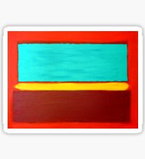 Rothko Style Abstract Painting Original Art Titled: The Divide  Sticker
