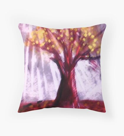 The Old tree, watercolor Throw Pillow