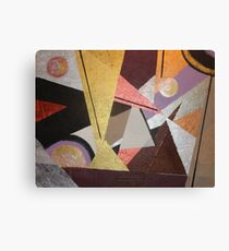 Lined Triangles Canvas Print