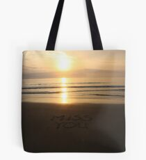 Message in the sand 4 Tote Bag