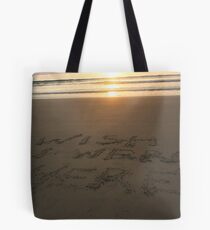 Message in the sand 5 Tote Bag