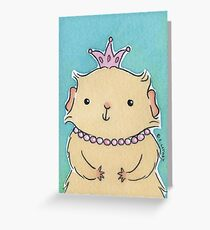 Pink Princess Guinea-pig Greeting Card