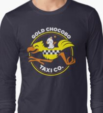 Gold Chocobo Taxi Co Long Sleeve T-Shirt