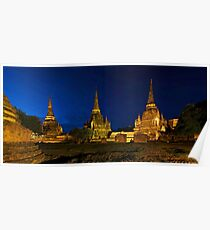 Magic Hour at Ayutthaya Poster