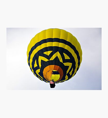 Flame Up in the Big Blue and Yellow Balloon  Photographic Print