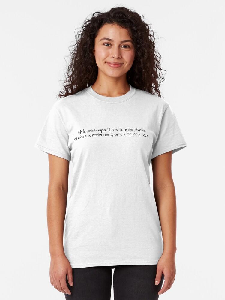 T-shirt classique ''Ah le Printemps !': autre vue