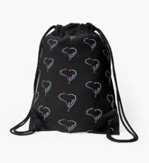 My Open Heart filled with Love Drawstring Bag