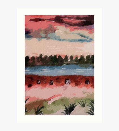 The Dam, watercolor Art Print