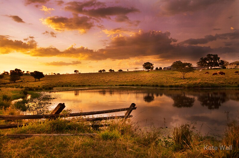 Quot Queensland Country Sunset Quot Posters By Kate Wall Redbubble