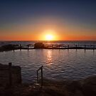 Sunrise over rock pool Maroubra by Adriano Carrideo