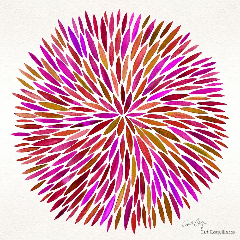 Pink Watercolor Burst by Cat Coquillette