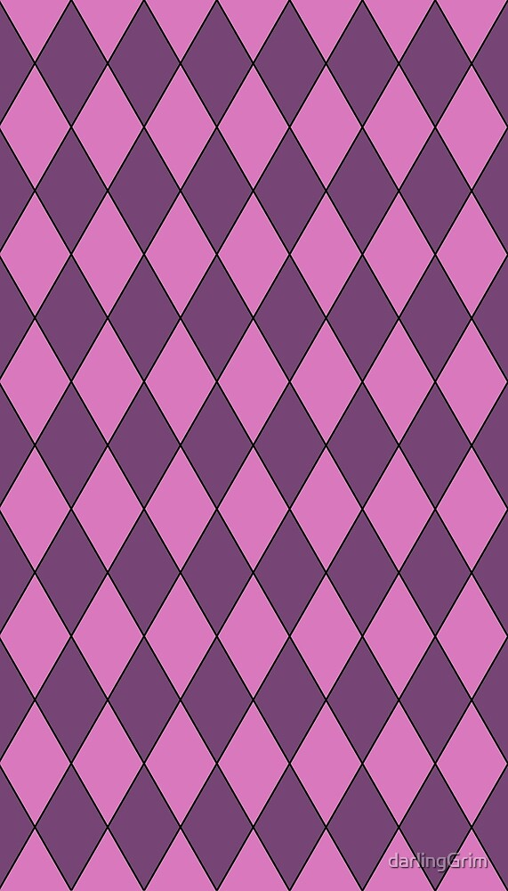 Purple Diamond Pattern by darlingGrim