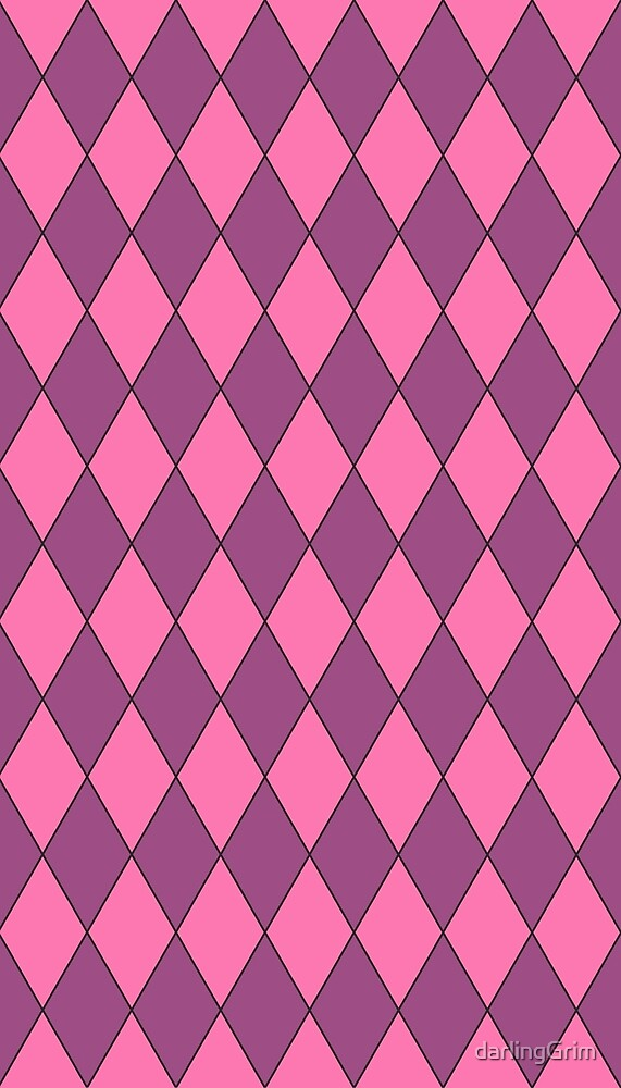 Pink and Purple Diamonds by darlingGrim