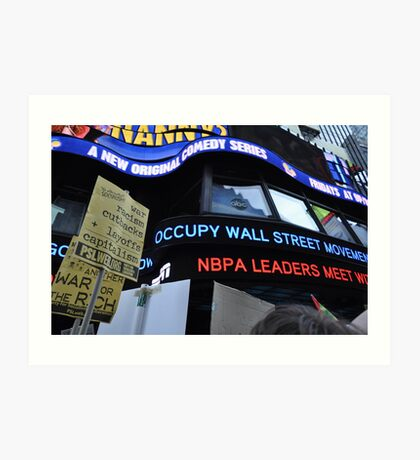 Occupy Wall Street Goes Worldwide October 15 2011  Art Print