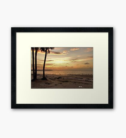 The Sun Rising on Tampa Bay Framed Print