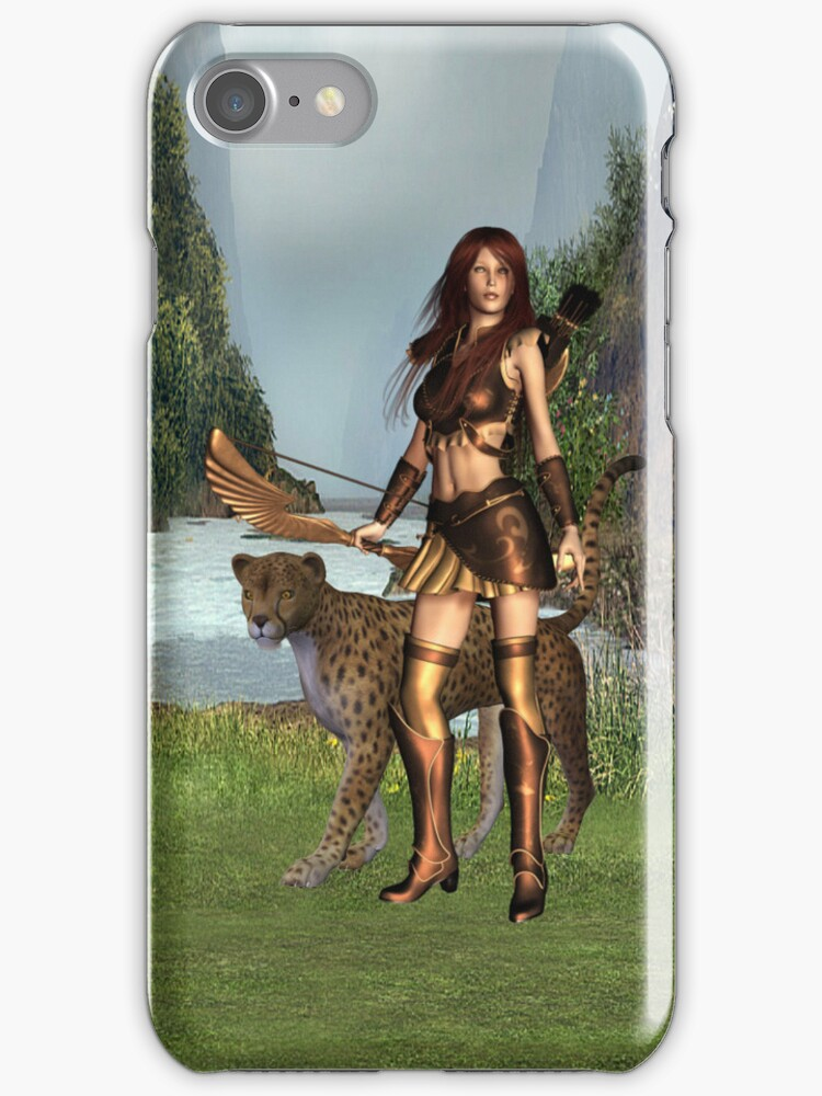 The Huntress .. iphone case by LoneAngel