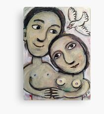 girl and guy attached Canvas Print