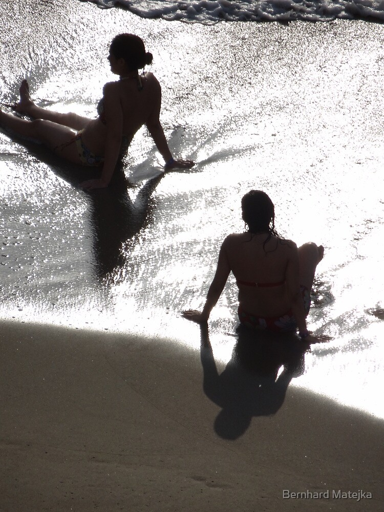 Sunlight, shade, water, sand - silhouettes I nature's artwork by Bernhard Matejka