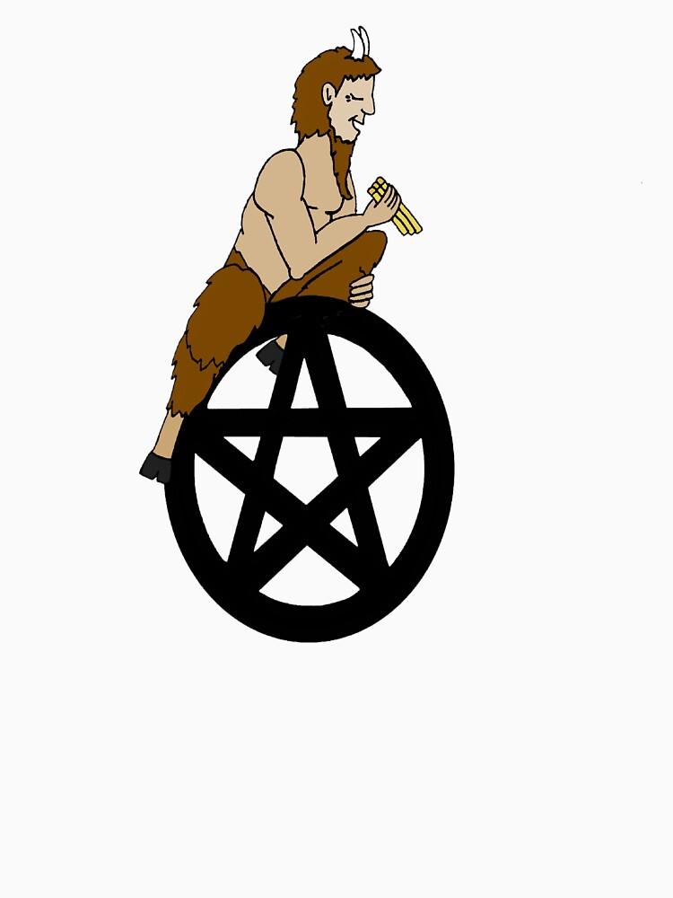 Pagan God Pan and Pentacle by imphavok