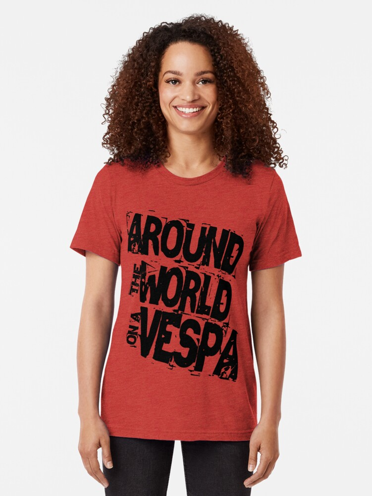 Alternate view of RTW on Vespa Tri-blend T-Shirt
