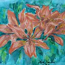 5 Lilies in  One,watercolor by MaeBelle