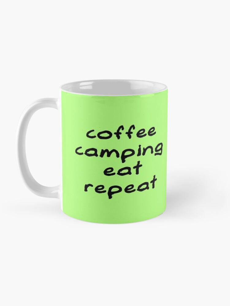 Alternate view of Coffee Camping Eat Repeat Mug