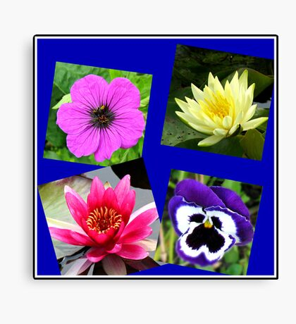 Essex Flowers Collage Leinwanddruck