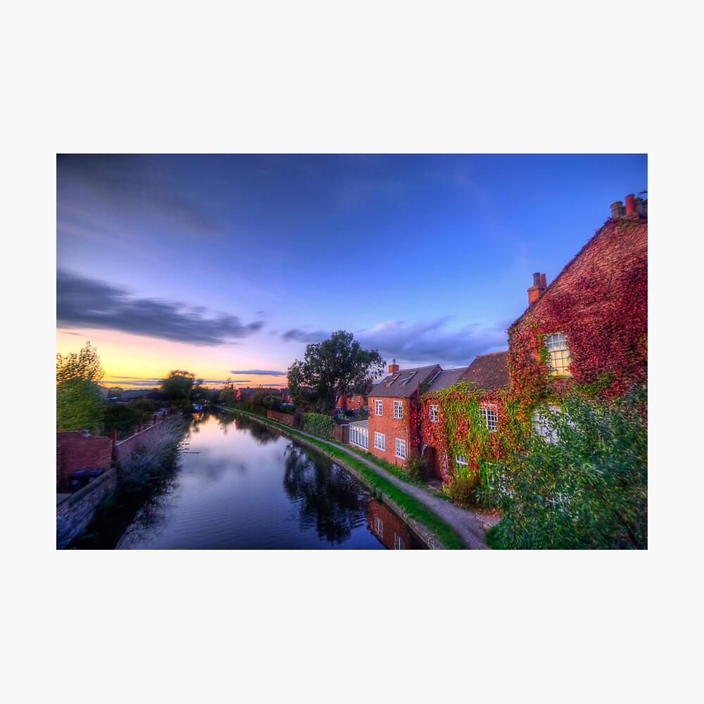 Loughborough Canal Sunset  Photographic Print