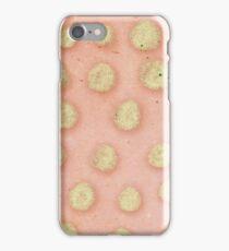 Salmon Pink Polka Dots iPhone Case/Skin