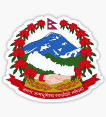 Coat of Arms of Nepal  Sticker