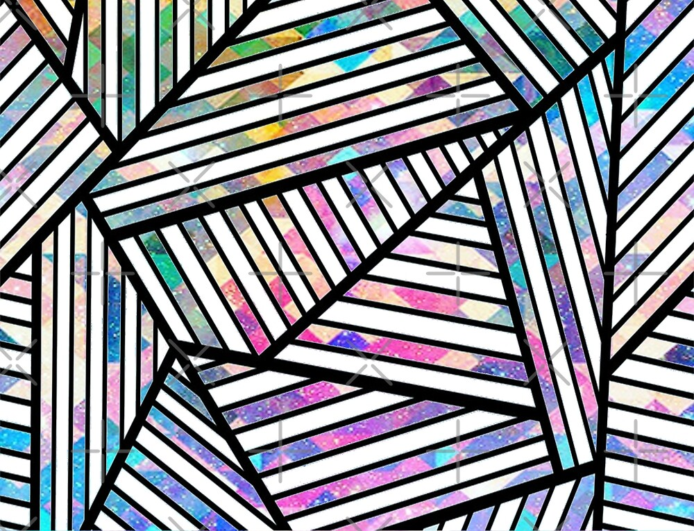 Tribal Triangles White by AllisonDawn15