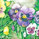 Pansies by clotheslineart