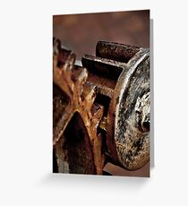 Cogs in mesh Greeting Card