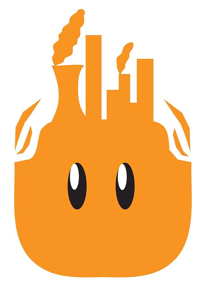 Pollution Headz by KJ Designs