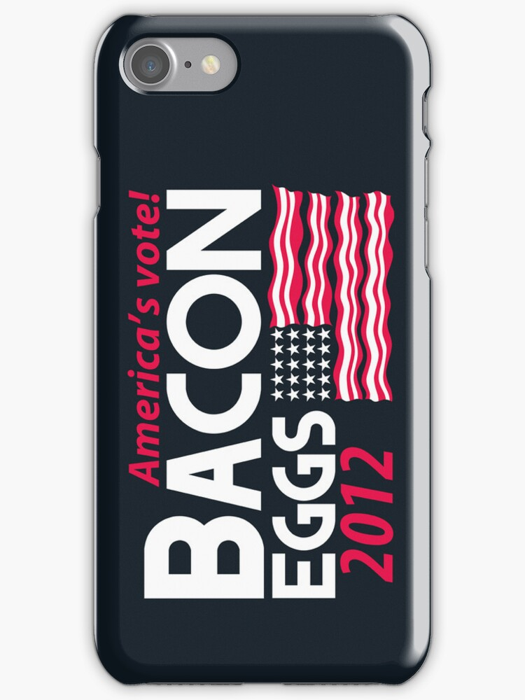 With Liberty and Bacon for All iPhone Case by fishbiscuit