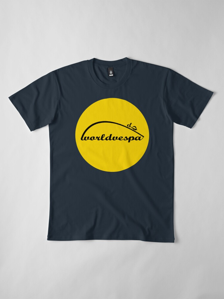Alternate view of Worldvespa Logo Premium T-Shirt
