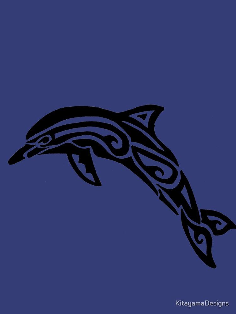 Dolphin Tribal Design  by KitayamaDesigns